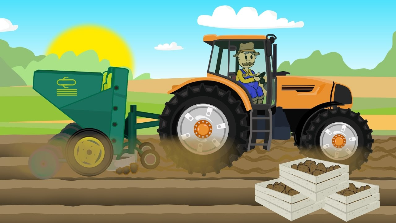 Farmer – Farm Work Story | Potaoes Digging | Bajka o Rolnikach ...