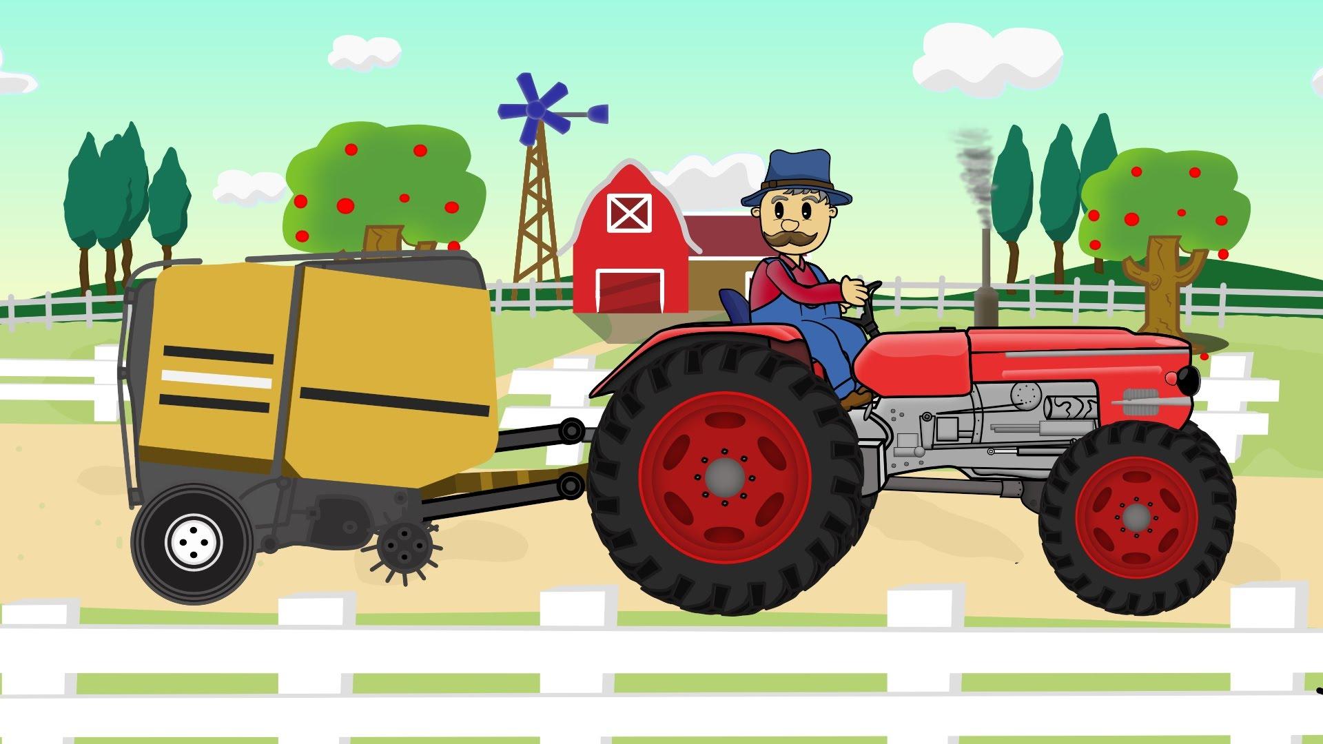 ☻ Farmer Farm Work | Straw – Bajki Traktorek – Prace Rolnika ...