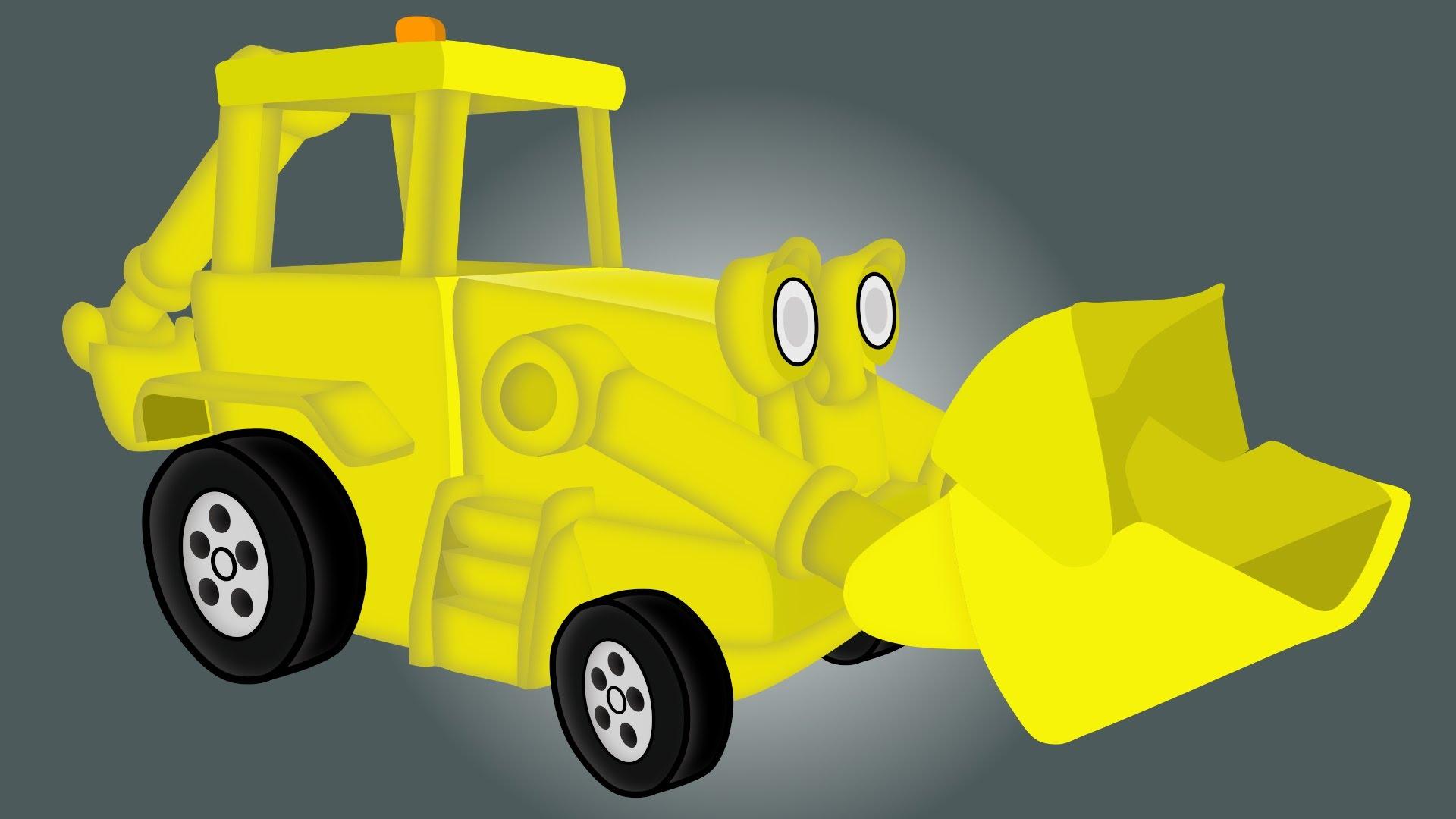 Backhoe Loader | Vehicle for children | Koparka Bajka Dla ...