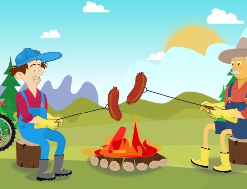 Farmers and Sausage Grilled on the Campfire | Motorcycle For children | Rolnicy – kiełbaska mmm