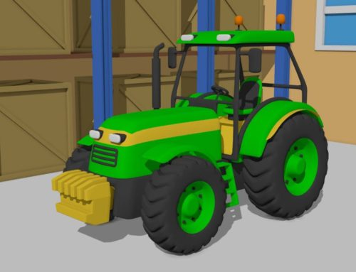 The Green Tractors | Fairytale for children – design and application | Zielone Traktory – Bajki
