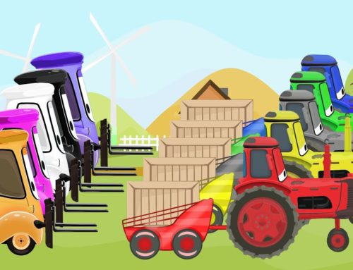 McQueen Tractor Learn Colors & Cartoon Animation for Kids and Babies   Kolory TRAKTORY dla DZIECI