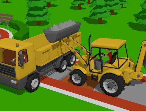 #Excavator and Mini Excavator, Dump Truck – Pipe Repair | Street Vehicles | Maszyny Budowlane