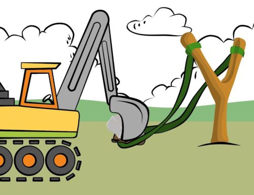 Learn Colors Excavator Drawing – Slingshot and shield | Colors for Children and babies | Koparka