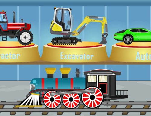 Vehicles for Kids – Excavator Mini & Tractor & Car & Train | Construction Machinery | music for kids