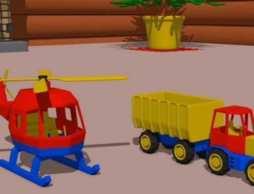 #Helicopter, Truck, Tractor with trailer – decoration factory | Video for babies and Kids | Story