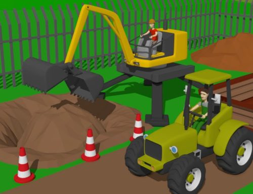 #Excavator and Cyclop Loader and Tractor with Trailer | Street and agricultural vehicles | Maszyny