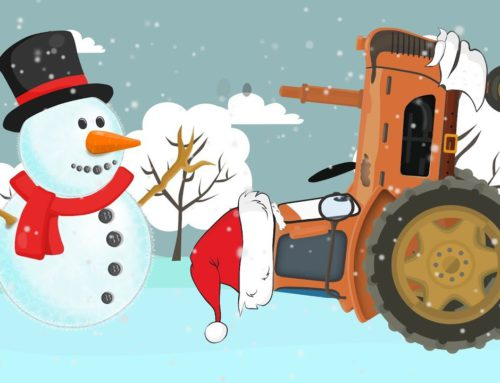 Holiday Tractor dispatches presents | imaginary Story | Snowman for children | BAJKA