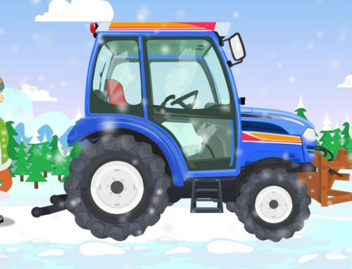 Blue #Tractor with a snowplough – Winter attack | Vehicles for Kids – Pojazdy dla dzieci