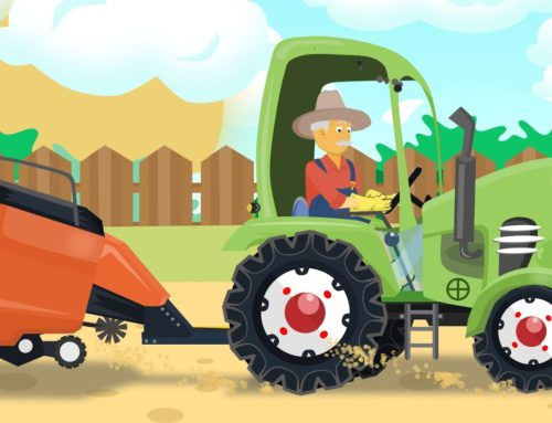 A new Green #Tractor for FARMERS – collecting straw | fairy tales for Babies and Kids – Traktory