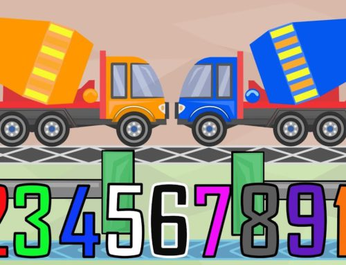 Colorful Kids Concrete Mixer – Learning colors  and numbers & Video Animation for KIDS and BABIES