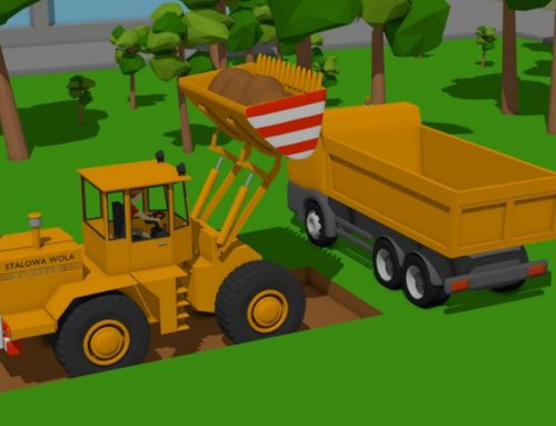 Construction Vehicles for Kids – Excavator, Bulldozer and Truck – Digging foundations for a monument