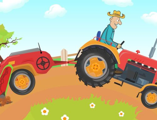 Fairy tale Tractor for KIDS – Agricultural vehicles and machinery } Work on the field and Corn
