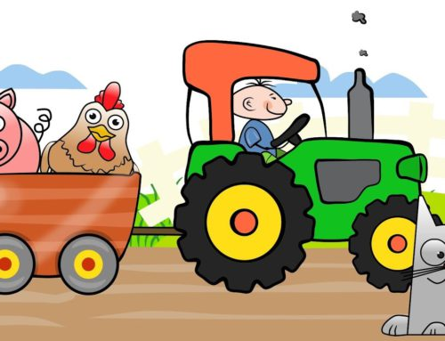 The Tractor Drawing 2 – Learning colors on Vehicles | Videos for kids and babies – Kolorowy traktor