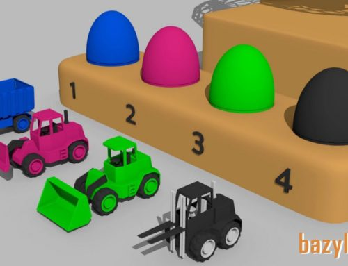 Suprise egg Learn Colors – Vehicles for Kids and Babies construction and use – Guess the Egg