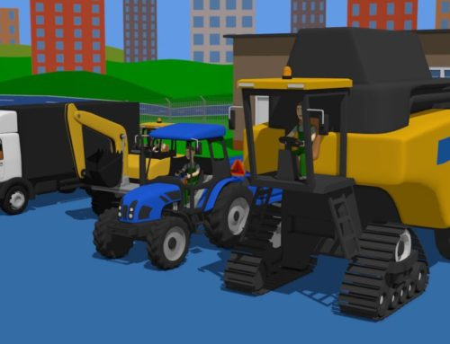 Agricultural and Construction Vehicles – Incorrect Cabins | Combine & Tractor & Excavator for Kid