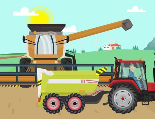 Farm work – Combine Harvester and Tractor They work hard | Fairy tale about Farmers for Kids