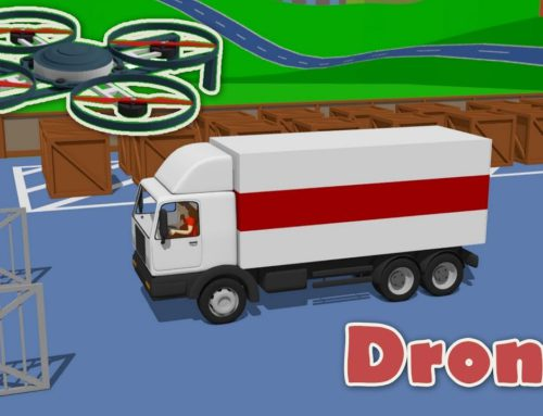 Street Vehicles for Kids – Logistics Drone – 22 century | Video about Kids Vehicles. Bajki & Dzieci