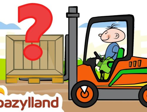 Drawing a Forklift – Guess what is hidden in the box? –  Bazylland