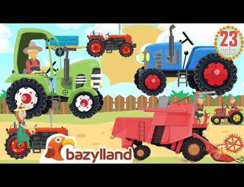 🔴Trackors & Combines and other agricultural vehicles 🎵 Farm Work ▶▶ Bazylland 💯Video for Kids