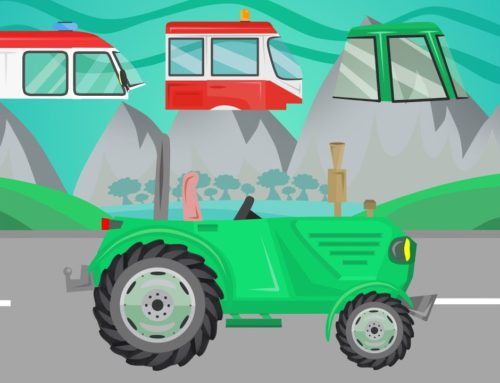 #Traktor, Bus and Ambulance – A guessing game for children and babies