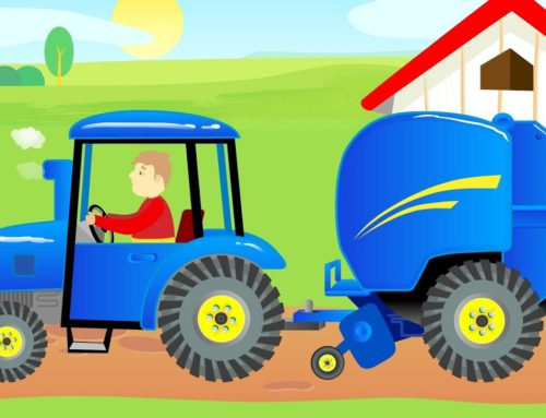 #Tractor with a Straw Baling Machine for children Agricultural machinery show for Kids