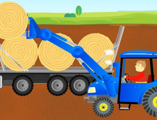 Bajki Traktory – Picking Up Straw Bales & Work on a field – Tractor Story | The toys are cool 👍