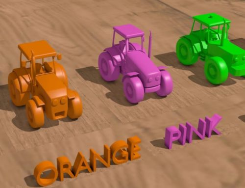 .A garage for toy Tractors. Teaching colors in English for children – Movies for Kids | Toys are fun