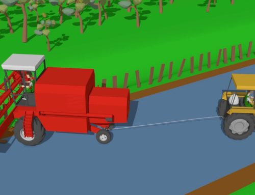 Traktor i Kombajn – Tractor for Kids The harvester got stuck in a ditch | Farm Tractor Uses Kids