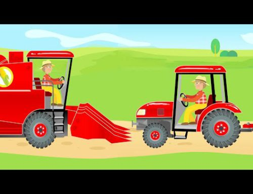 Tractor and Combine Harvester & Agricultural Machinery for Kids | Harvest – Traktor i Kombajn