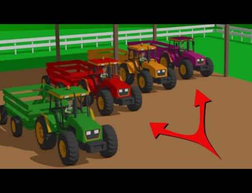 We Study Agricultural Machines – Tractors, Harvesters, and Agricultural Works for Kids | Traktory