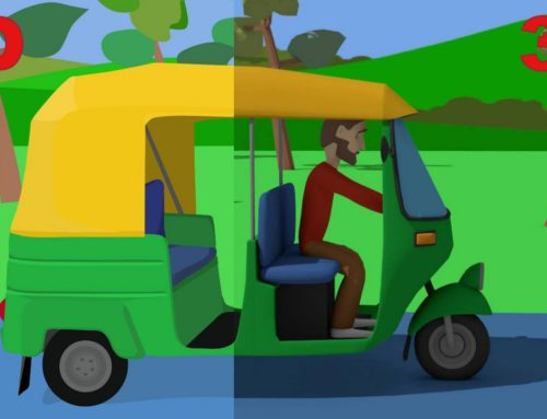 A Green Rickshaw and India Tour – Video for Kids and Babies | Cartoons Vehicles – Bajkii