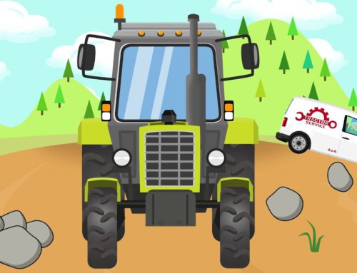 Tractor and Failure in the Field – Mobile Service Vehicle for Kids | Traktor Wymiana Koła