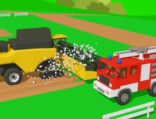Specific Vehicles for kids | Colorful tractors, fruits, machinery and construction vehicles