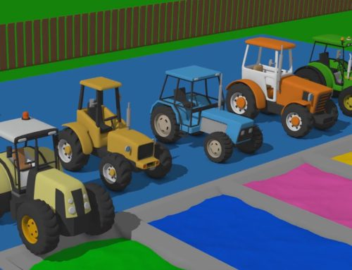 Learn colors on colored Tractors | Colorful Tractors and Excavators | Kolorowy Traktor i Koparki