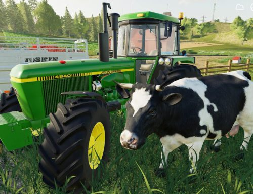 Tractor Traktor John Deere & JCB Bulldozer and Departure for the Cows   Traktory LS19