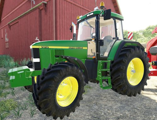 New John Deere 7810 Tractor & How to turn small bales of straw into large bales – Traktory LS19 TJD