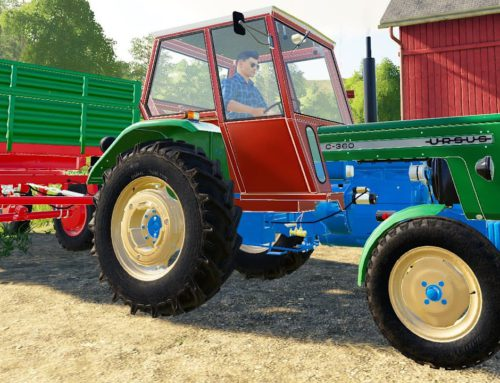 Colorful old Tractor and Soybean harvest | JCB John Deere and and a pickup truck with a tow truck