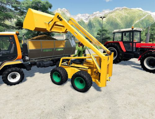 Mini #Excavator, Mini Manure spreader and Tractor Zetor and agricultural vehicles | Let's play LS19