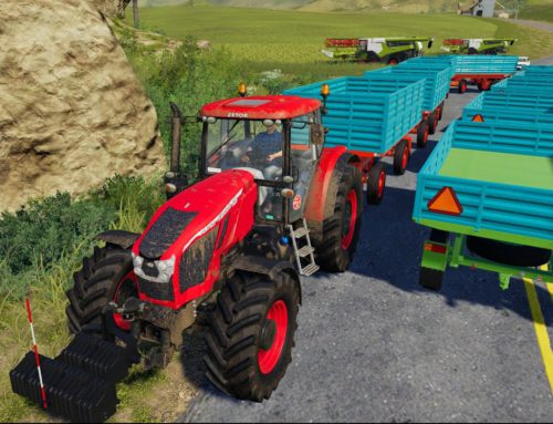 Tractor with Ten Trailers and Painting the Old Tractor Zetor | Normal Work on the Farm – Farming 19