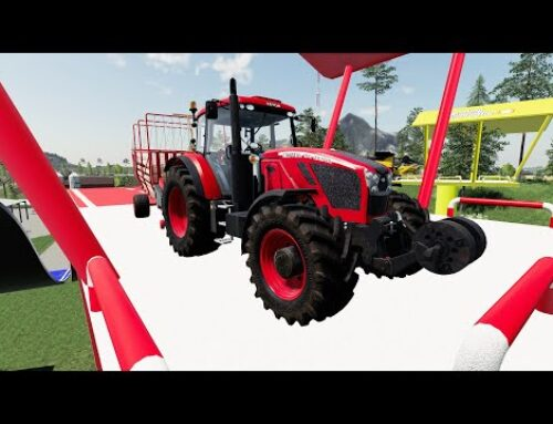Sky high farming – Tractors, vehicles and agricultural machinery on colorful platforms | Farm Work