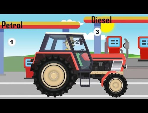 ☻ Tractor for Kids – Tractor with rotary mower for grass | Cartoon – ☻ Bajki Traktory