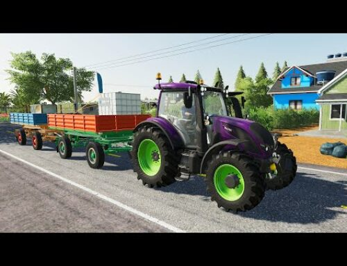 Colorful Loading Trailers and Colorful Tractor – Supplier | Animal Feed and Field Spraying + Farma