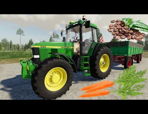 Harvester for Carrots and Coffee – John deere Tractors and colorful trailers | Farmer simulation