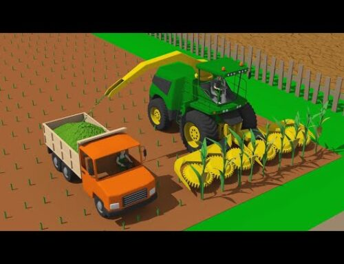 ☻Farmer Works – Maize | Tamping silage with heavy Loader & Tractor and Feed Mixer Trailer – Rolnik