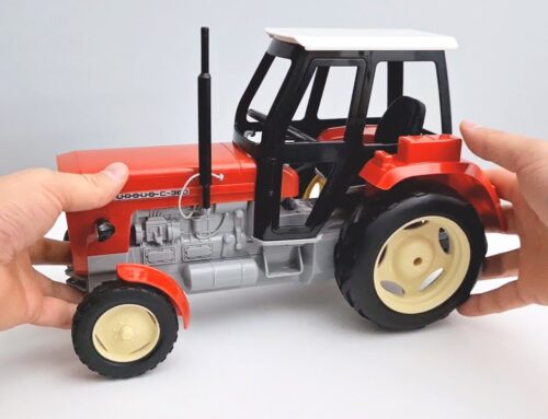 Tractor RC vs Tractor from Games – Remotely Controlled Polish Ursus c 360 and Corn Combine | 1:10