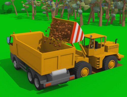 Fadroma, Mini Excavator & Concrete Mixer Are Building a Modern Wooden Playground | Excavators & Kids